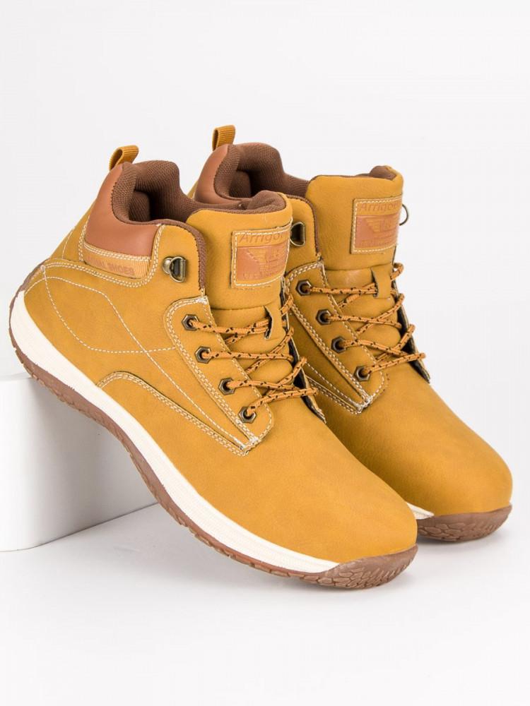ffe81869e667 Športové žlté pánske topánky - Pánska zimná obuv - Locca.sk