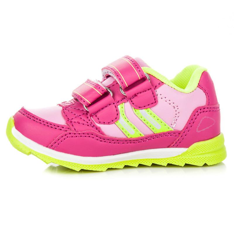 ff27e2387e8b Štýlové športové ružové detské tenisky na suchý zips - Detské ...