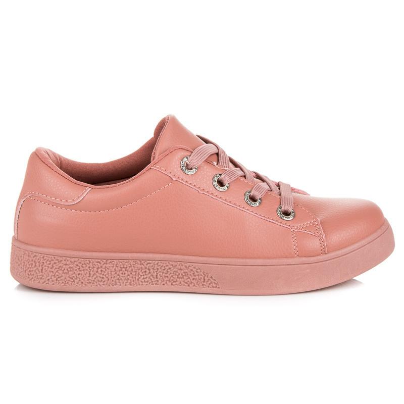 Trendy ružové topánky so šnurovaním - Dámske členkové tenisky - Locca.sk a2dcd2bb0c
