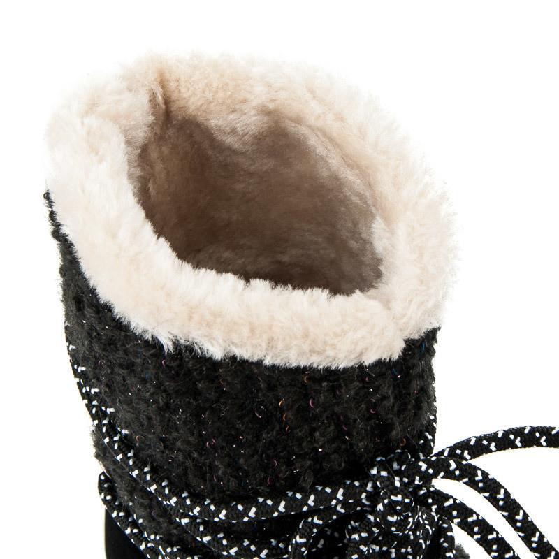 7154b1f7b4 Veľmi elegantné čierne detské snehule s efektným viazaním - Detské ...