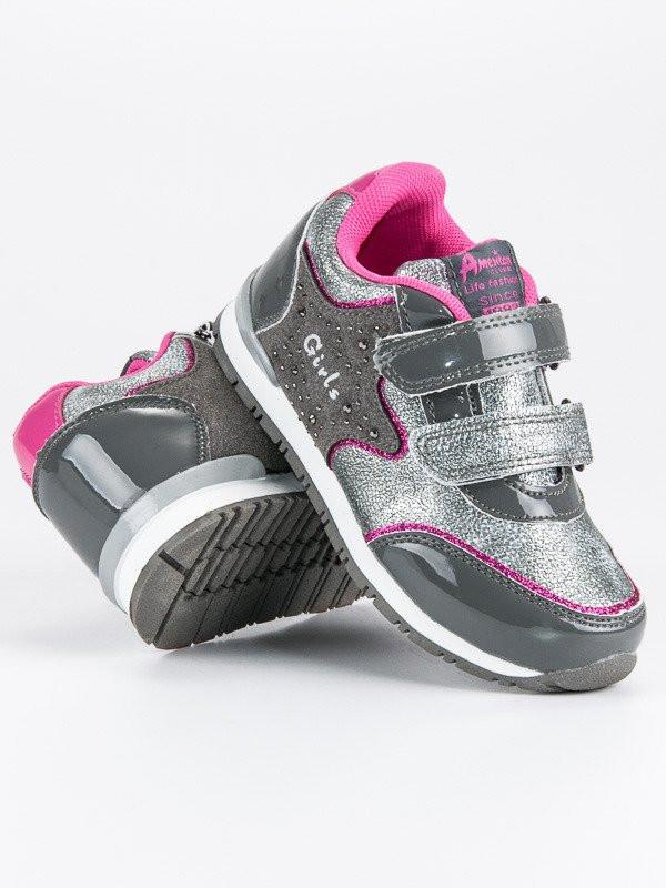 2517fa4242 Výborné detské tenisky a športové topánky strieborné bez podpätku ...