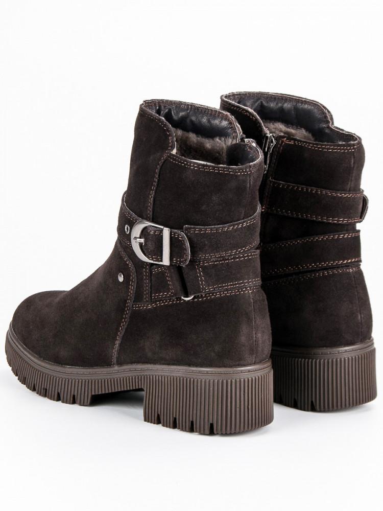 deb30f038989 Zateplené hnedé kožené topánky - Dámske topánky - Locca.sk