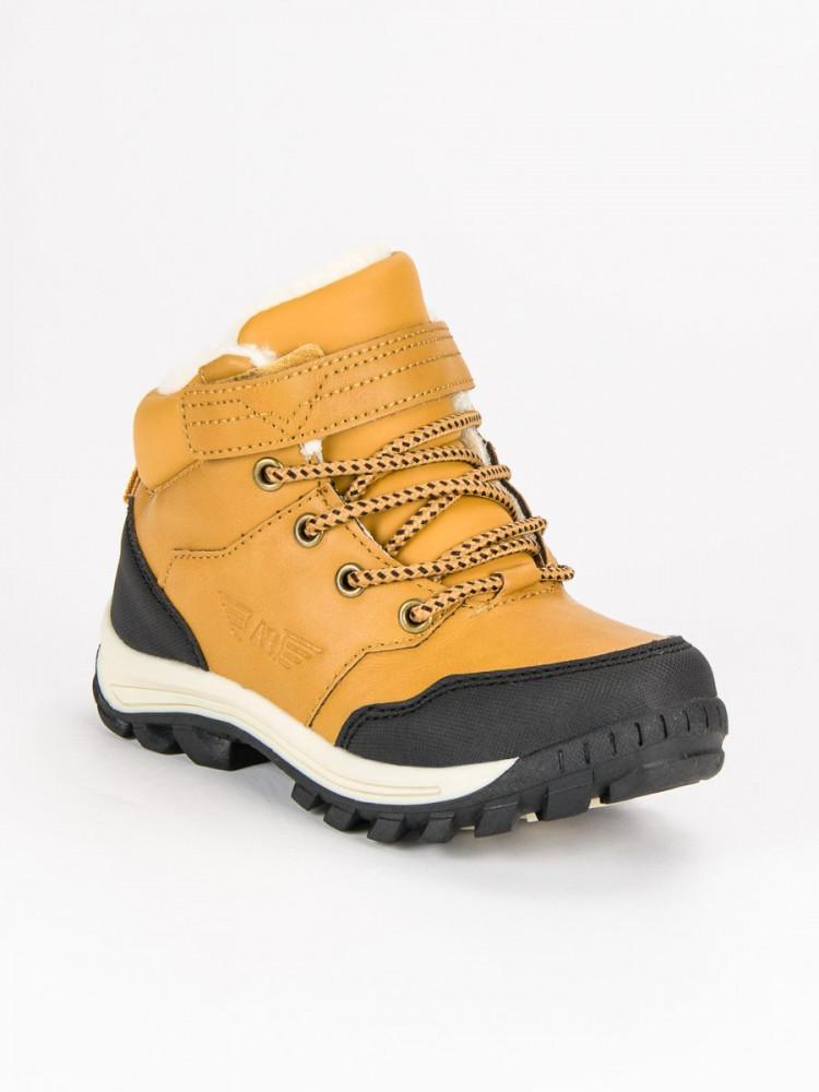 Žlté detské teplé zimné topánky - Detské čižmy - Locca.sk 54f25f64877