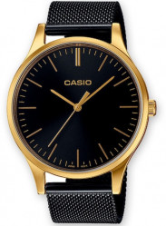 CASIO CLASSIC LADY GOLD MESH BLACK   New!