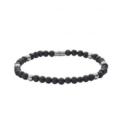 PULSEIRA FOSSIL BEAD STRETCH GREY SILVER