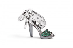 ROSATO SILVER JEWELS SHOES COLLECTION Mod. HEEL SWAROSKY  - Charms