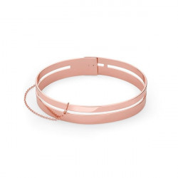 ROSEFIELD Iggy Double bar bangle rose gold