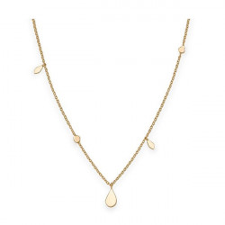 ROSEFIELD Iggy Shaped drop necklace gold