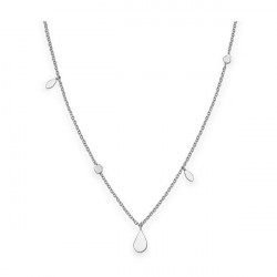 ROSEFIELD Iggy Shaped drop necklace silver