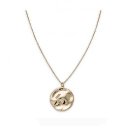 ROSEFIELD Iggy Textured coin necklace gold