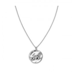 ROSEFIELD Iggy Textured coin necklace silver