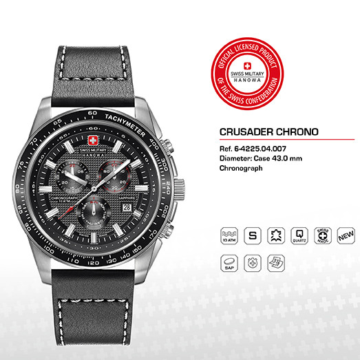 cbec459dc SWISS MILITARY HANOWA SWISS MILITARY WATCHES Mod. CRUSADER - Pánske ...