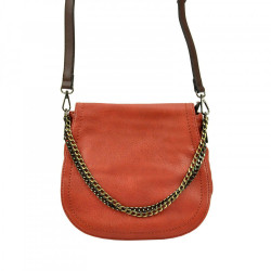 Crossbody kabelka s ozdobnou retiazkou 5008 oranžová