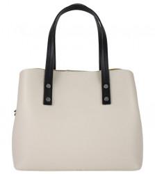 Kožená béžová dámska kabelka do ruky Florencia