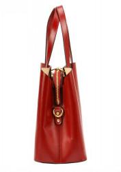 Kožená bordová dámska kabelka do ruky Florencia #1
