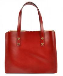 Kožená bordová dámska kabelka do ruky Florencia #2