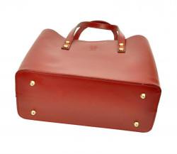 Kožená bordová dámska kabelka do ruky Florencia #5
