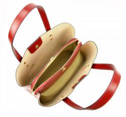 Kožená hnedá dámska kabelka do ruky Florencia #6