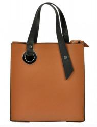 Kožená ťavia hnedá obdĺžniková dámska kabelka do ruky