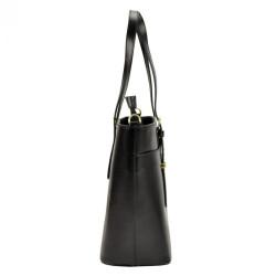 Kožená tmavo hnedá dámska kabelka Patrizia Piu #1