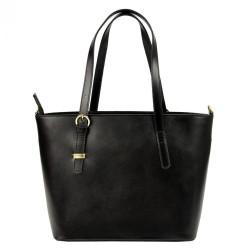 Kožená tmavo hnedá dámska kabelka Patrizia Piu #2