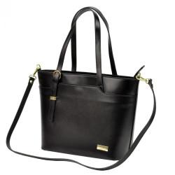 Kožená tmavo hnedá dámska kabelka Patrizia Piu #4