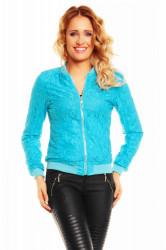 Ľahká dámska obojstranná bunda Zac Zoe tyrkysová veľkosť S