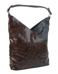 Moderná dámska kabelka cez plece 5140-BB kávovo hnedá