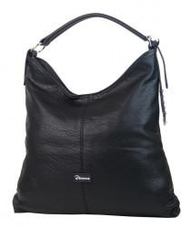 Moderná veľká čierna kombinovaná dámska kabelka 3753-DE