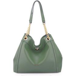 Módna dámska kabelka cez rameno Anna Grace 2504 zelená