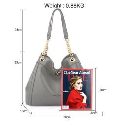 Módna dámska kabelka cez rameno Anna Grace 2505 šedá #2