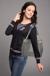 Módna dámska kabelka cez rameno Anna Grace 2505 šedá #5