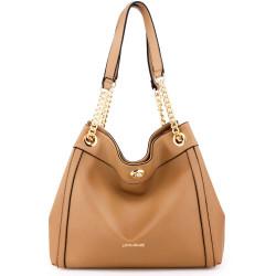 Módna dámska kabelka cez rameno Anna Grace 2506 hnedá