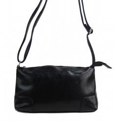 Pozdĺžna menšia dámska crossbody kabelka H0515 čierna