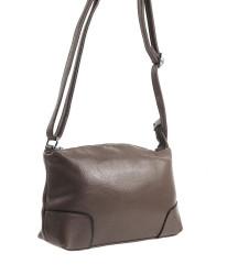 Pozdĺžna menšia dámska crossbody kabelka H0515 šedohnedá #1