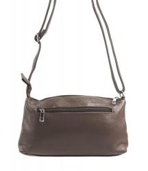 Pozdĺžna menšia dámska crossbody kabelka H0515 šedohnedá #2
