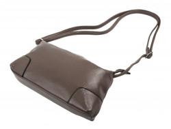 Pozdĺžna menšia dámska crossbody kabelka H0515 šedohnedá #3
