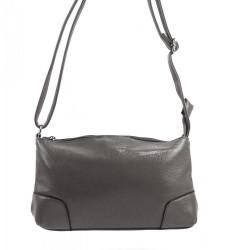 Pozdĺžna menšia dámska crossbody kabelka H0515 sivá