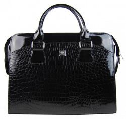 PUNCE LC-01 čierna dámska kabelka pre notebook do 15.6 palca