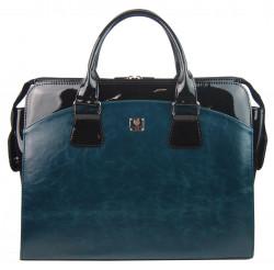 PUNCE LC-01 modrá petrolejová dámska kabelka pre notebook do 15.6 palca