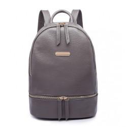 Šedý dámsky elegantný batoh Miss Lulu