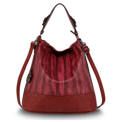 Štýlová kabelka na rameno Anna Grace 2500 burgundská