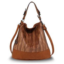 Štýlová kabelka na rameno Anna Grace 2501 hnedá