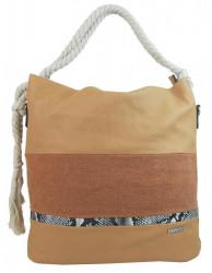 Veľká hnedá dámska kabelka s lanovými uchami 4543-BB