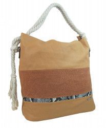 Veľká hnedá dámska kabelka s lanovými uchami 4543-BB #1