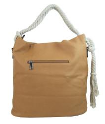 Veľká hnedá dámska kabelka s lanovými uchami 4543-BB #2