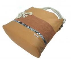 Veľká hnedá dámska kabelka s lanovými uchami 4543-BB #3