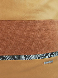 Veľká hnedá dámska kabelka s lanovými uchami 4543-BB #4