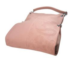 Veľká ľubovoľne nositeľná dámska kabelka 5381-BB ružová #2