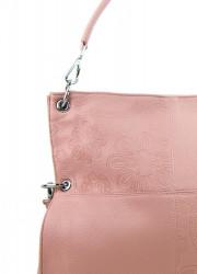 Veľká ľubovoľne nositeľná dámska kabelka 5381-BB ružová #4